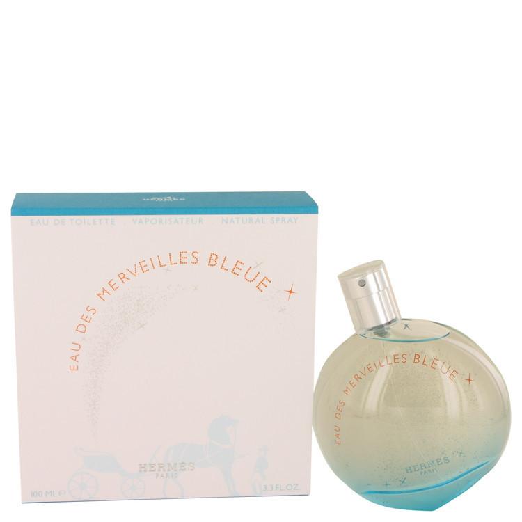 Hermes paris eau des merveilles bleue 3.3 oz perfume