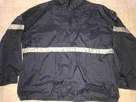 American Eagle ~ Vtg Men's Navy Blue Thin Jacket Windbreaker Pullover Pl... - $21.03