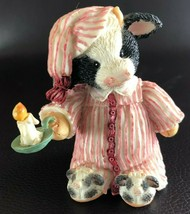 "Enesco Mary's Moo Moos Cow Figurine ""Once upon a Midnight Steer"" #651680 (1994) - $8.90"