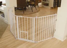 Carlson Flexi Walk-Thru Gate with Pet Door - $89.99