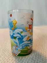 NEW! RARE! Tweety Bird & Hello Kitty Glass Fanta Juice Cup Surfing New/O... - $18.79