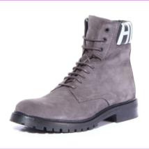 Hugo Boss Men Explore_Halb_wxsd Boots Shoes Dark Grey, Size 12 - $198.52