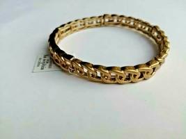 "Lia Sophia ""Interlink"" Gold Tone Stretch Bracelet - $8.90"