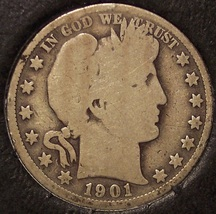 1901-S Barber Silver Half Dollar LOW MINTAGE #0659 - $33.99