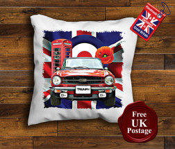 Triumph TR6 Cushion Cover, Triumph TR6, Union Jack, Mod, Target, Poppy, Cushion - $9.01+