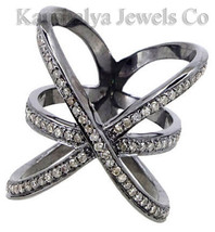 Victorian 1.52ct Rose Cut Diamond Elegant Cute Lovely Precious Wedding Ring - $219.73