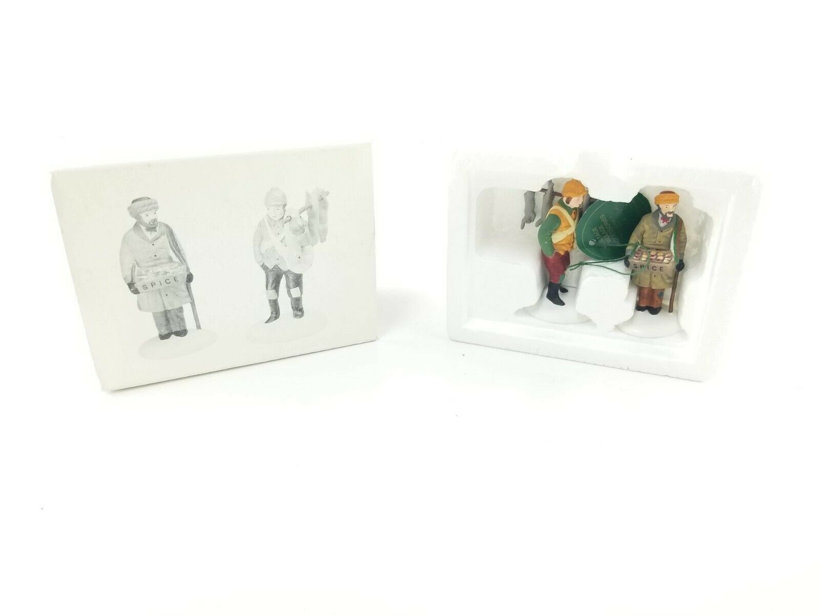Department 56 Heritage Accessory Village Street Peddlers Set of 2 5804-1 in Box - $12.95