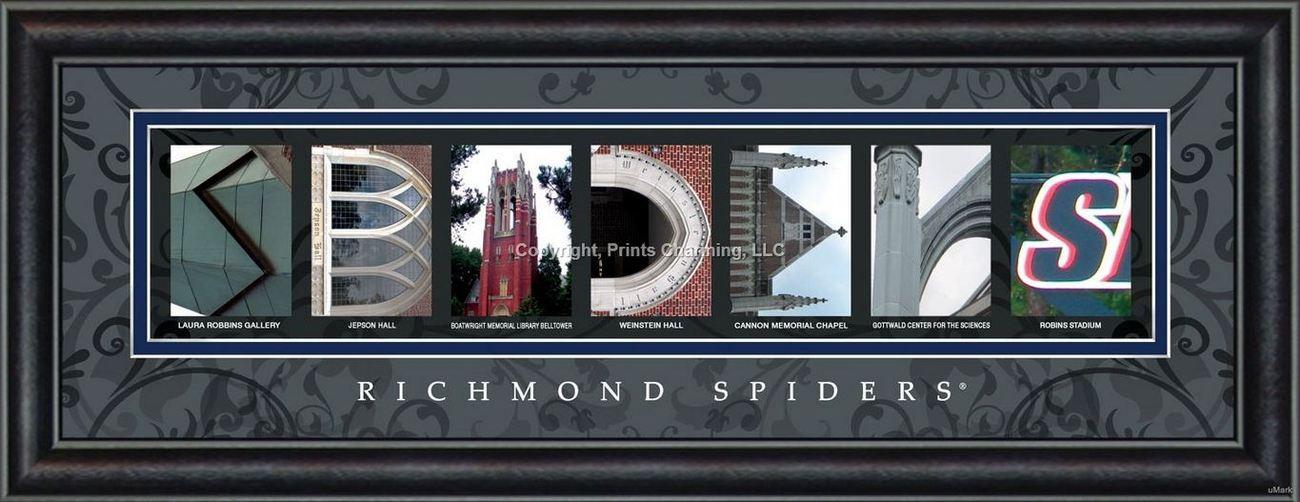 University of Richmond Officially Licensed Framed Letter Art - 2 Versions