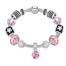 Roses in Pink Pandora Inspired Bracelet - $12.35