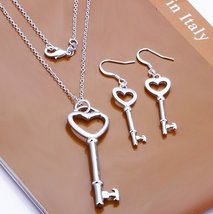 Key to my heart jewelry set 925 silver FREE shipping - $19.99