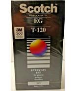 SCOTCH 3M  EG 6 HOUR HIGH QUALITY VHS T-120 TAPE NEW & STILL SEALED - $4.21