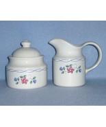 Pfaltzgraff Bonnie Brae Creamer and Sugar Bowl with Lid - $15.99