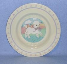 Hallmark HLM8 Baby Plate w/Lamb & Pink Flower Rim 1984 - $3.99