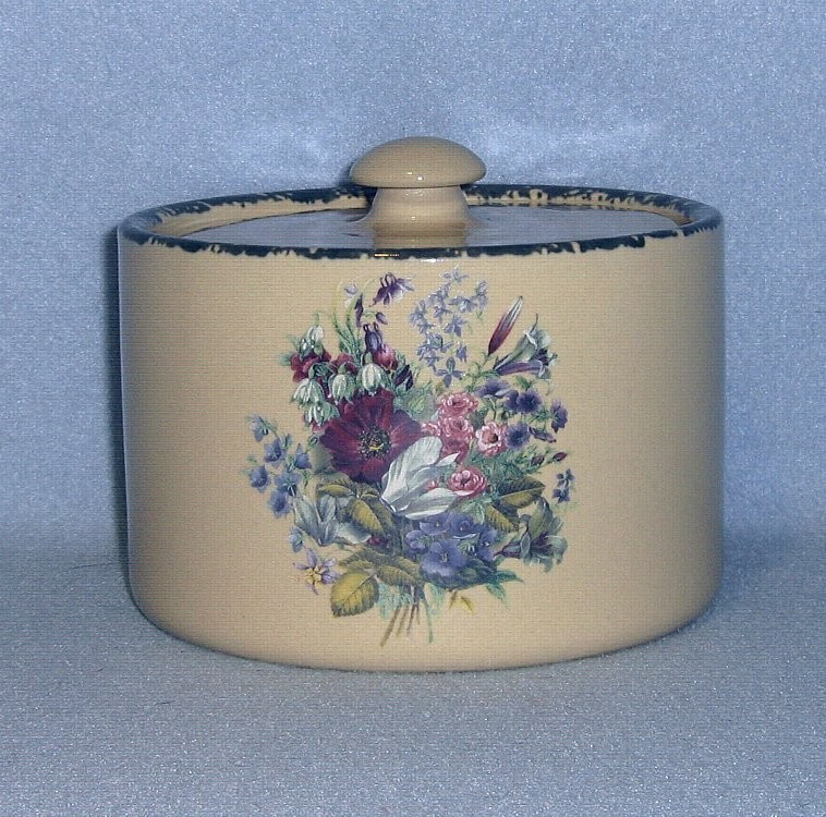 Home & Garden Party Floral Butter Box/Crock with Lid 2004