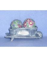Sonoma Home Goods In the Garden Figural Salt & Pepper Set Flower Cart Ho... - $9.99
