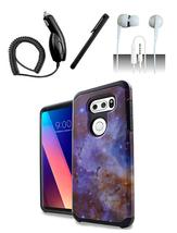 LG V30 Stardust Marble Design Slim Hybrid Case Cover - $11.99