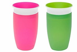 Munchkin Miracle 360 Sippy Cup, Pink/Green, 10 Ounce, 2 Count - $16.52