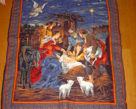 Nativity Wall Hanging,Hand Embroidered/Quilted 3 Dimensional  Wall Hanging - $79.99