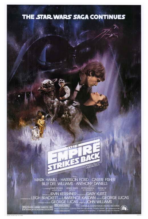 Empire strikes back poster 24 x 26