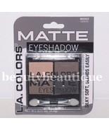 L.A. Colors Matte Eyeshadow 4 Shades Powder Eye Makeup BES553  MATTERIFIC - $3.46