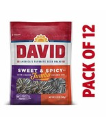 DAVID Roasted and Salted Sweet and Spicy Jumbo Sunflower Seeds, 5.25 oz,... - $17.94