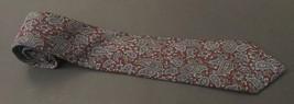 Geoffrey Beene Dark Paisley Tie Necktie Burgundy Blue Cohoes Silk Italia... - $9.89