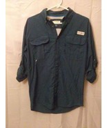 Mens Magellan Outdoors Fish Gear Short Sleeve Green Button Up Shirt  - $17.75
