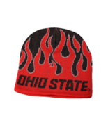 Ohio State Adult Unisex Red/Black Flame Beanie, One Size - $9.89