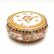 White Marble Decorative Coaster Set Hand Painted Art Kitchen Drinkware A... - $99.99