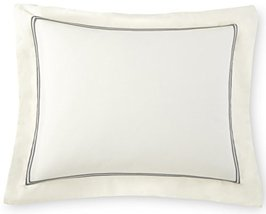 Venezia Pillow Sham Tencel / Cotton Double Rows Stitch Embroidery Design... - $29.35