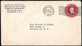 WWII UNITED STATES 1944 N.Y BOARD OF EDUCATION 2 CENTS COVER & LETTER - $4.99