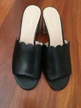 KATE SPADE Black Medium Heeled Sandals Slides Size 10 - $88.11