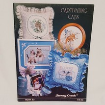 Captivating Cats Cross Stitch Leaflet 63 Book Color Charts 1989 Tabby Persian  - $16.99