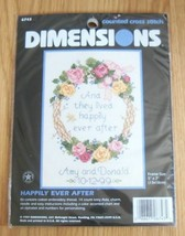 """NEW Dimensions Counted Cross Stitch Kit Happily Ever After 5"""" x 7"""" 6743 NIP - $14.99"""