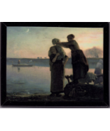 JEAN-FRANCOIS MILLET, French Washerwoman By the Lake Magnet - $3.95