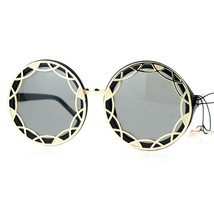 Designer Outline Framed Fashion Sunglasses Womens Oversized Round - $12.95