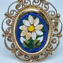 Micro Mosaic Ring Cobalt Royal Blue Vintage 40's - 50's image 5