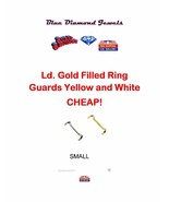 Ring Guard Adjuster White & Yellow Gold Filled, Lds Small USA SELLER GET... - $4.95