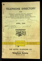 April 1959 Bellefontaine Ohio United Telephone Directory With Yellow Pages - $18.95