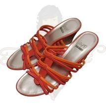 Impo Vacate Women's Orange Open Toe Backless Slide Wedge Sandals Sz 10M - $35.00