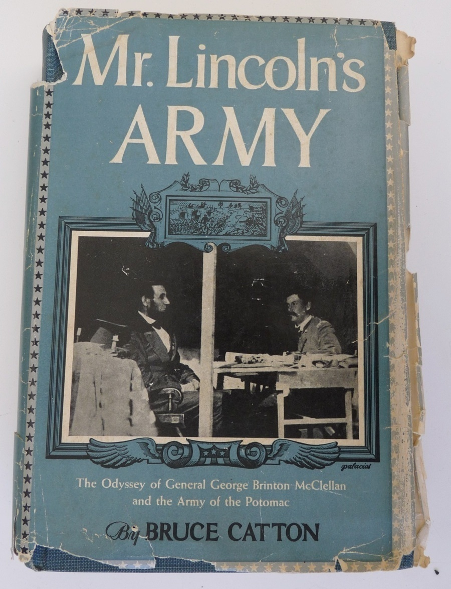 Mr Lincoln Army McCatton book Civil War biography  1st ed 1951 vintage