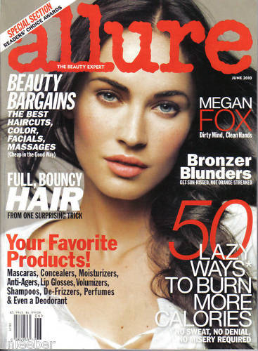 ALLURE JUNE 2010-MEGAN FOX;BURN CALORIES;BEAUTY BARGAIN