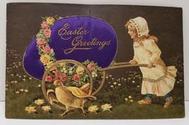 Easter Diecut Silk Embellished Egg PFB Paul Finkenrath Germany 1900s Pos... - $21.95