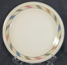 Studio Nova Villager Mesa JF041 Dinner Plate Multicolor Banded Rim (M4) - $14.95