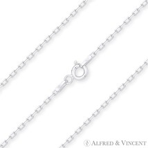 1.6mm D-Cut Anchor Cable Link Italian .925 Italy Sterling Silver Chain Necklace - $15.43 - $20.58
