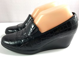 Clarks Bendables Womens Black Wedge Shoes Size 7 M - $49.45