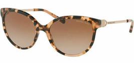Michael Kors Abi Women's Peach Tort Rounded Cat-Eye Sunglasses MK2052 329011 55 - $292.05