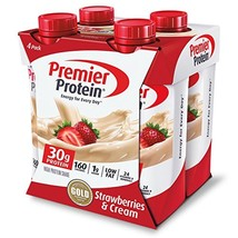 Premier Protein 30g Protein Shakes, Strawberries & Cream 11 Fluid Ounces Pack of