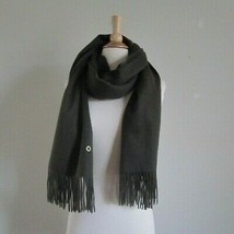 Loro Piana Womens Mens Cashmere Shawl Scarf Fringed Forest Green Made in... - €320,29 EUR