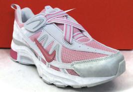 NIKE T-RUN 2 ALT(GS/PS) White/Pink Hook-Loop Youth(Y) Sneakers #336470-600 - $39.99